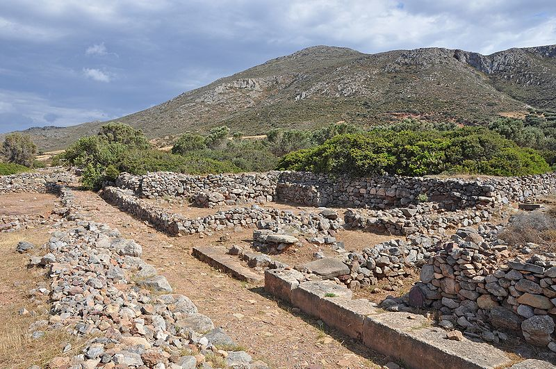 Minoan site of Roussolakkos at Palekastro, eastern Crete