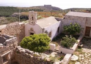 Monastery chapel at Aptera, Akrotiri, Crete
