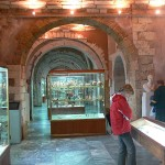 Museum showcases, Archaeological Museum in Chania, Crete