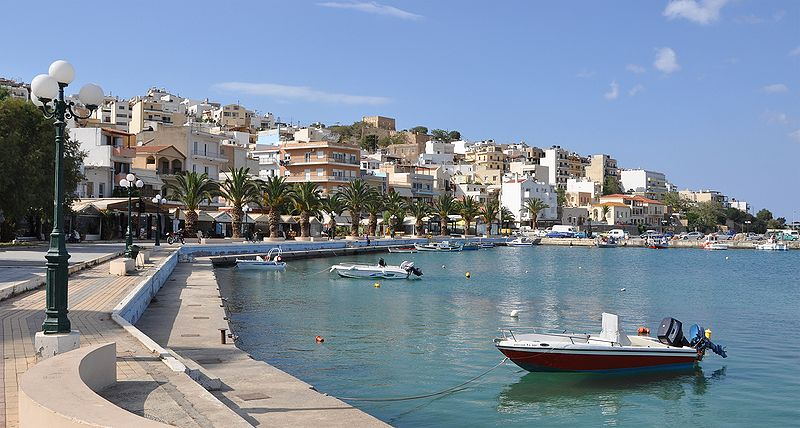 View of the marina in Sitia, Crete