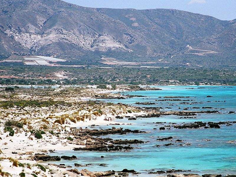 Southeastern coast of Elafonisi near Crete