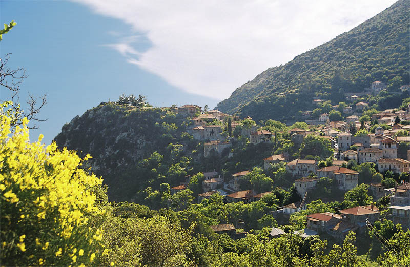 Stemnitsa village in Arkadia, Peloponnese, Greece