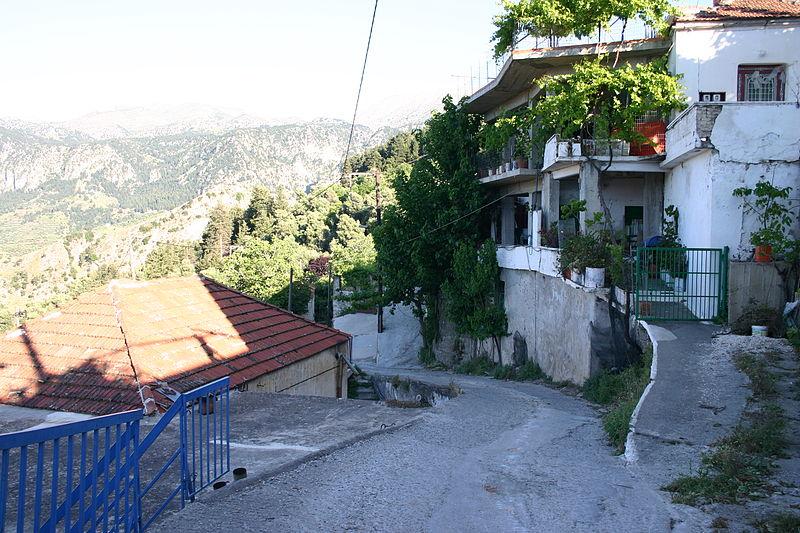 Street in Lakkoi village, Platanias, Crete