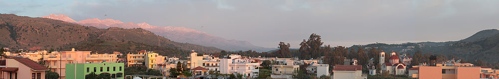 Sunrise over Georgioupoli and Lefka Ori (White Mountains), Crete