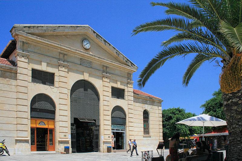 The central Market Square (Agora) in Chania, Crete