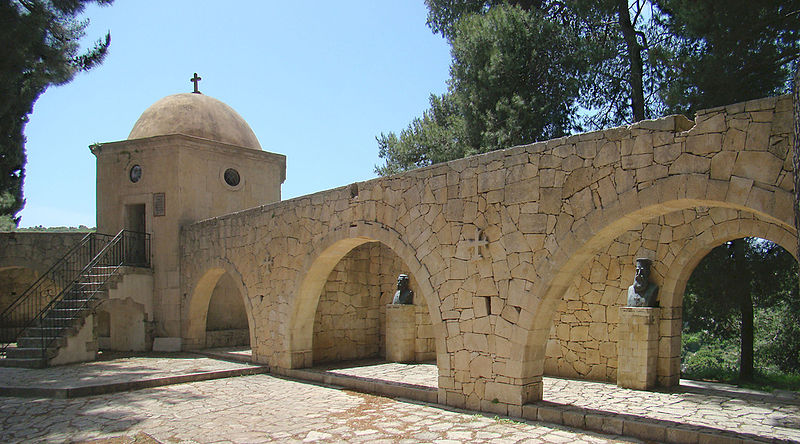 The memorial of Arkadi Monastery, Rethymno, Crete
