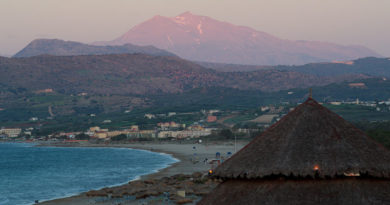 View of Georgioupoli and Mount Psiloritis, Crete