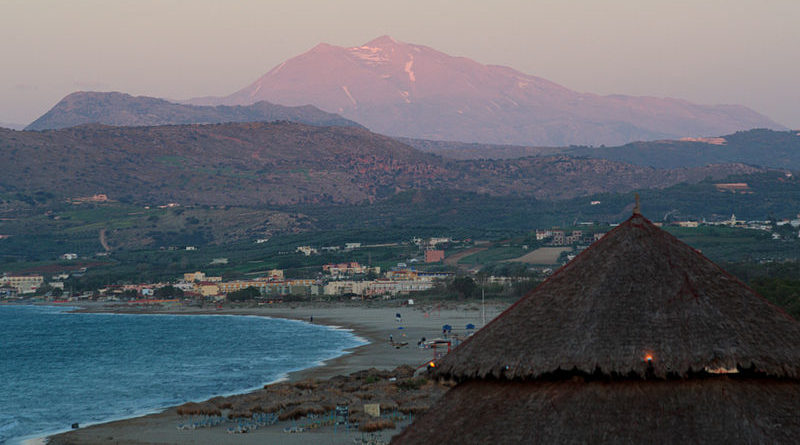 View of Georgioupoli and Mount Psiloritis, Crete