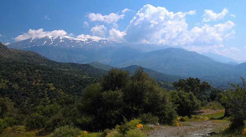 View of Psiloritis mountains from west, Crete