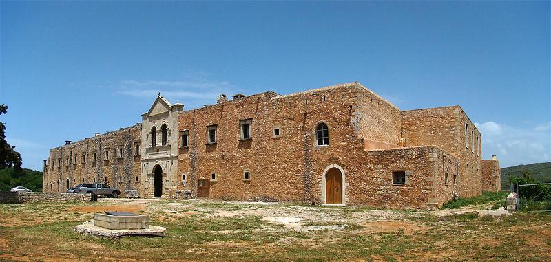 Western wall of Arkadi monastery, Rethymno, Crete