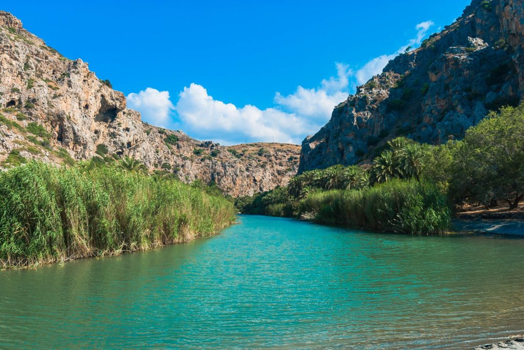 Travel to Preveli Lagoon, Southern Crete, Greece
