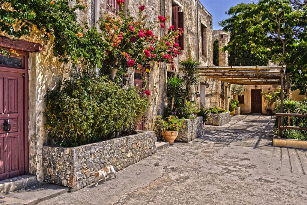Travel to Preveli historical monastery, Southern Crete, Greece