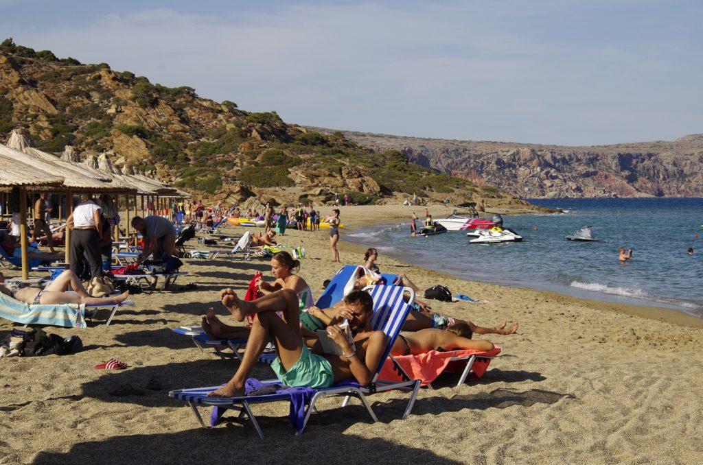 Travel to Vai palm beach, Crete