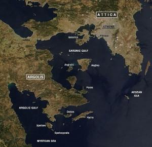 Argolic and Saronic Gulfs, Greece