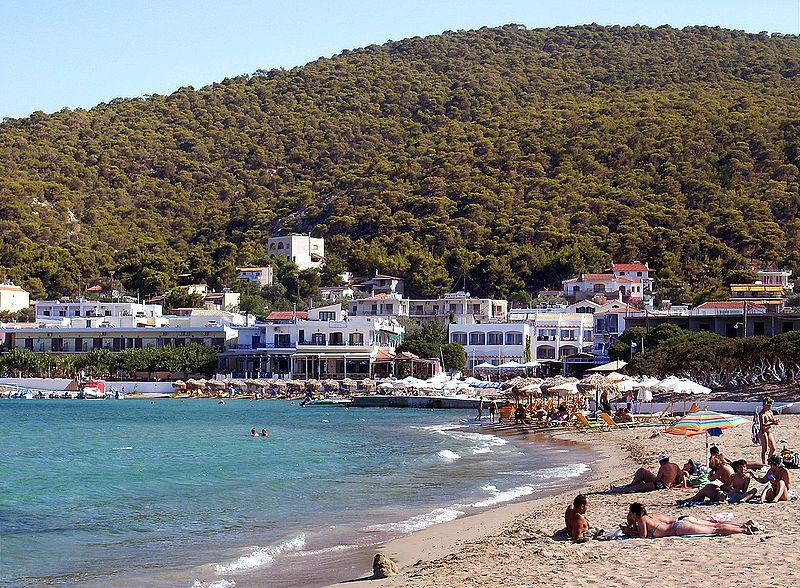 Beach of Skala, Agistri, Saronic Gulf, Greece