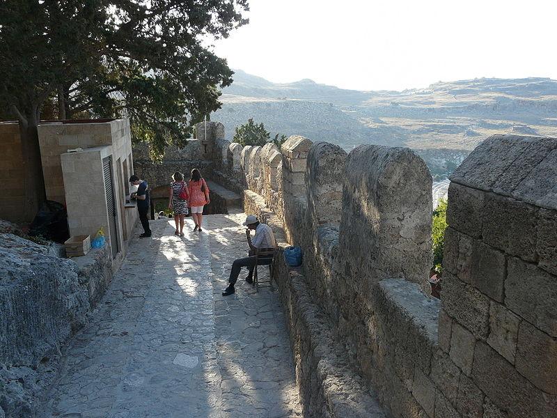 Castle of Lindos, Rhodes island, Greece
