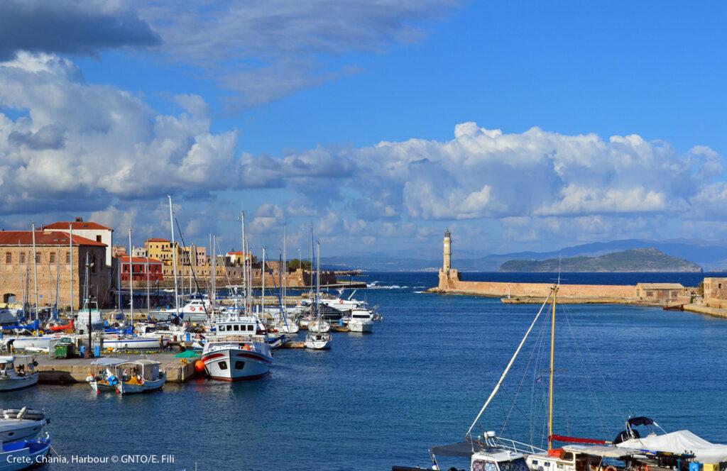Chania Harbour Crete, Greece Photo by E. Fili