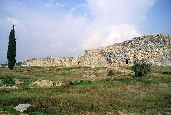 Cyclopean masonry at Tiryns, Peloponnese, Greece