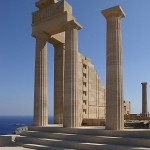 Doric Temple of Athena Lindia, Lindos, Rhodes island, Greece
