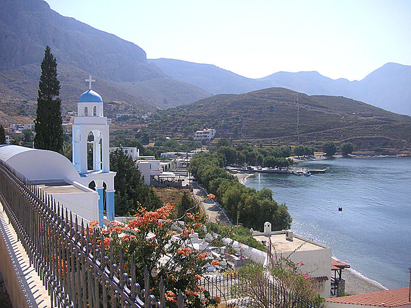 Emborios in the northernmost part of Kalymnos, Dodecanese, Greece