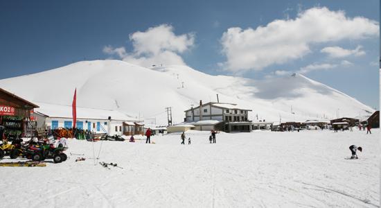 Falakro ski center in Drama, Macedonia, Greece