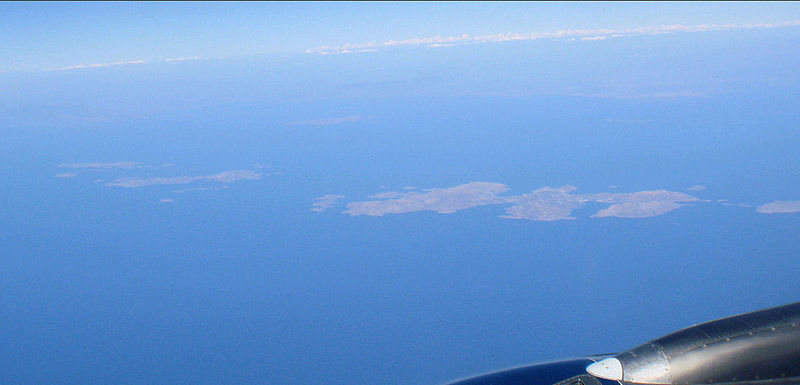 Front, left to right, Arkoi, Leipsoi, Leros. Back, left to right, Agathonisi, Farmakonisi and the turkish coastline.