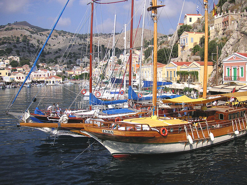Harbor of Symi, Dodecanese, Greece