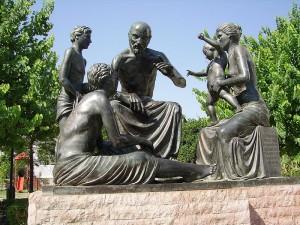 Hippocrates' statue on Kos island, Greece