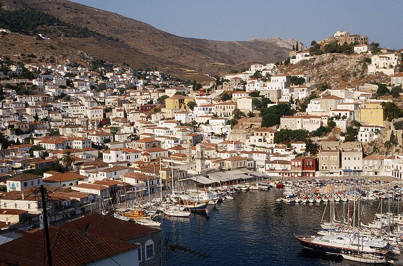 Hydra town-port, Argo-Saronic Gulf, Greece