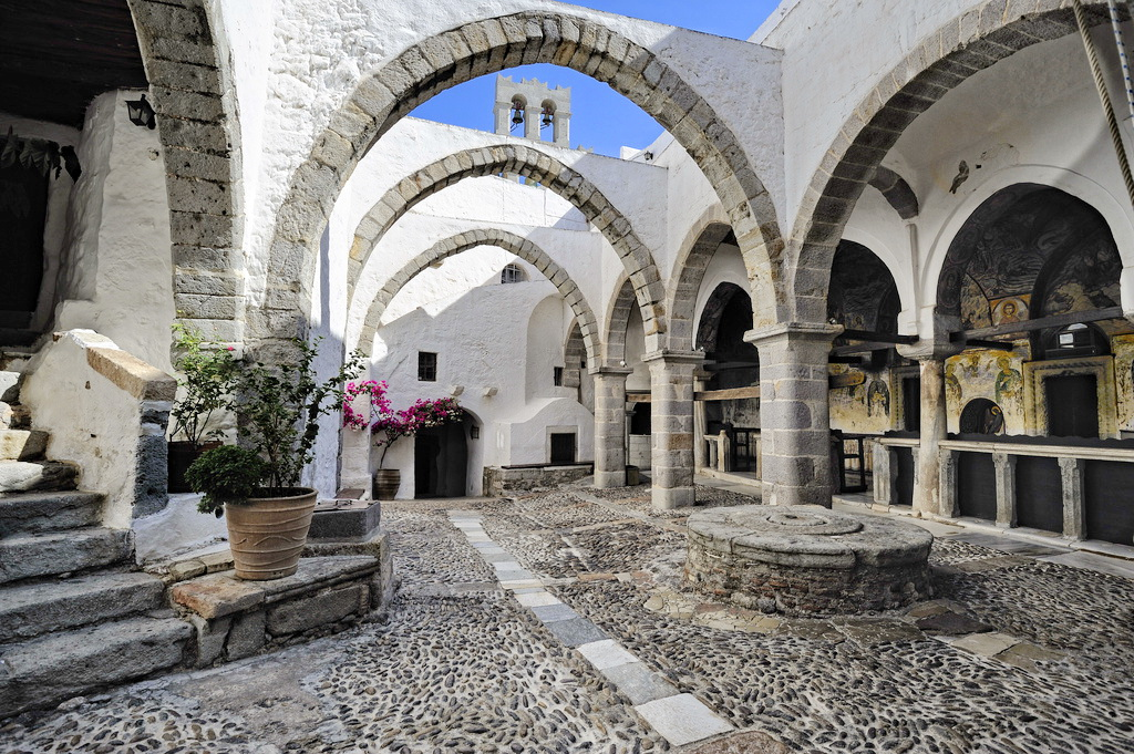 Inside the Monastery of St. John - Photo by S. Lambadaridis