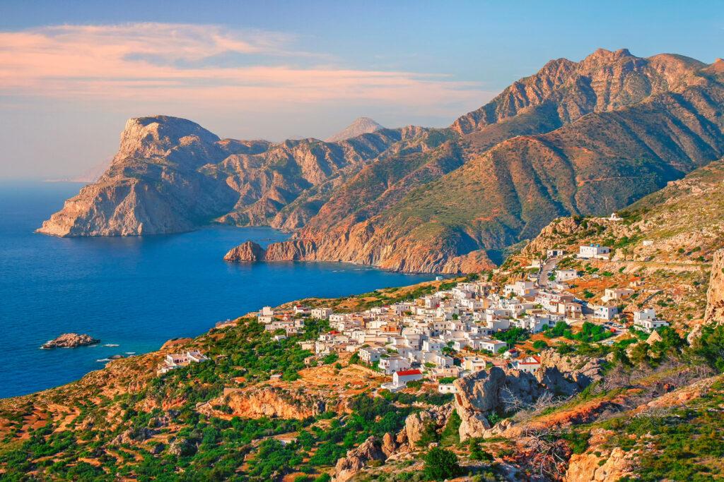 Seaside village in Karpathos, Dodecanese Greece