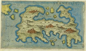 Map of Astypalaia by Giacomo Franco (1597)