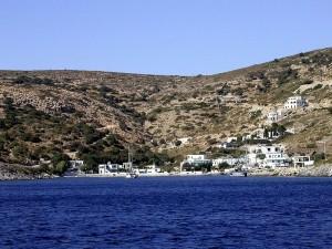 Megalo Chorio, main harbor of Agathonisi (small island near Leros)