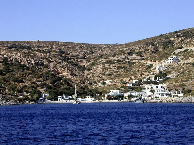 Megalo Chorio, main harbor of Agathonisi (small island near Leros)