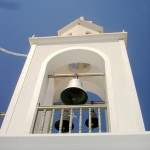Monastery tower on Nisyros island, Dodecanese, Greece