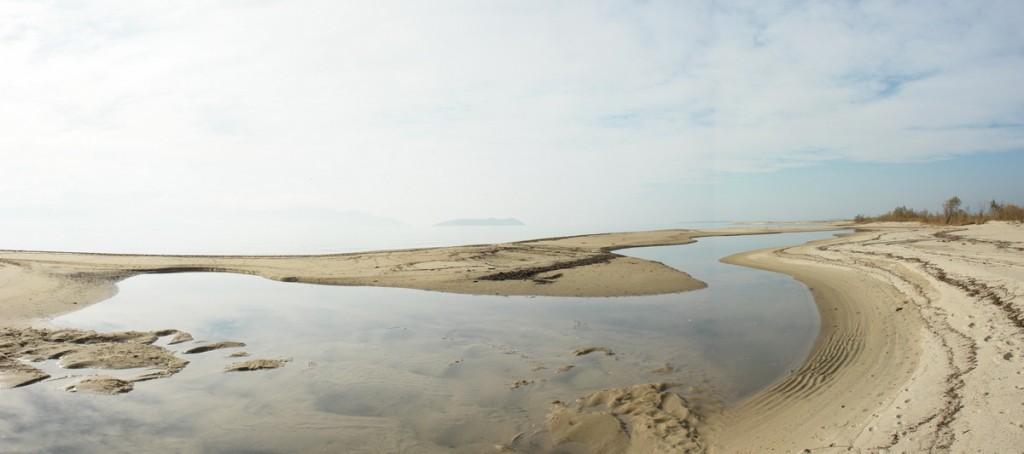 Delta of Nestos River into the Aegean Sea - Photo: Sotiris Lambadaridis