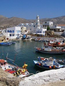 The old Harbor of Fry, Kasos island, Dodecanese, Greece