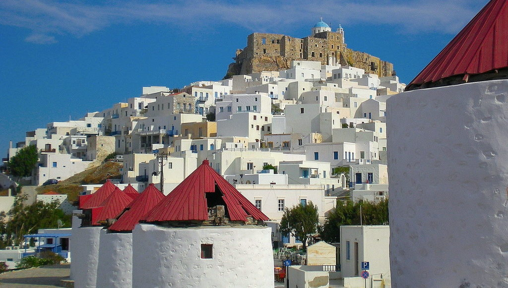 Old windmills in Astypalaia - Photo by S. Lambadaridis