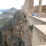 On Acropolis of Lindos, Rhodes island, Greece