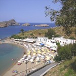 Pallas Beach, Lindos, Rhodes island, Greece