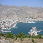 Panorama of Pothia, Kalymnos, Dodecanese, Greece