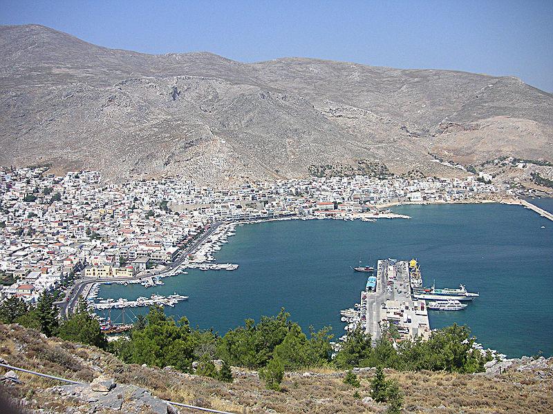 Panorama of Pothia, Kalymnos, Dodecanese, Greece