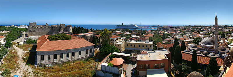 Panoramic view of Rhodes city
