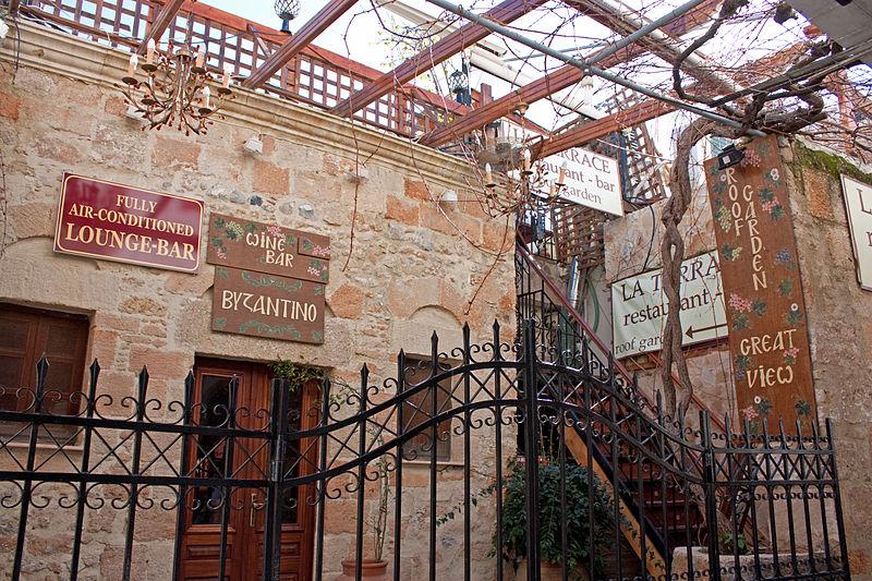 Restaurant in Lindos, Rhodes island, Greece