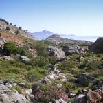 Landscape near Lindos, Rhodes island, Greece