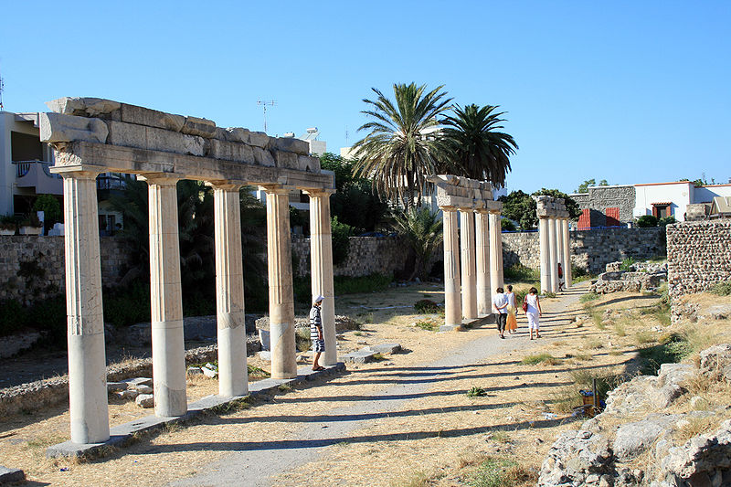 Ruins of the Ancient Gymnasium on Kos island, Greece