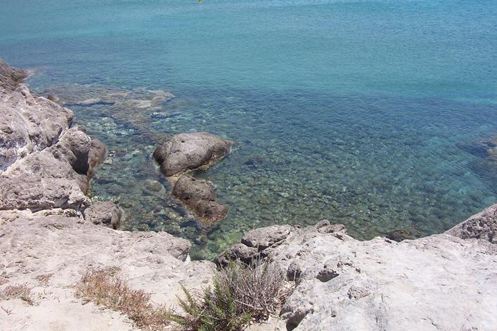 Sea and rocks at Kefalos, Kos island, Greece