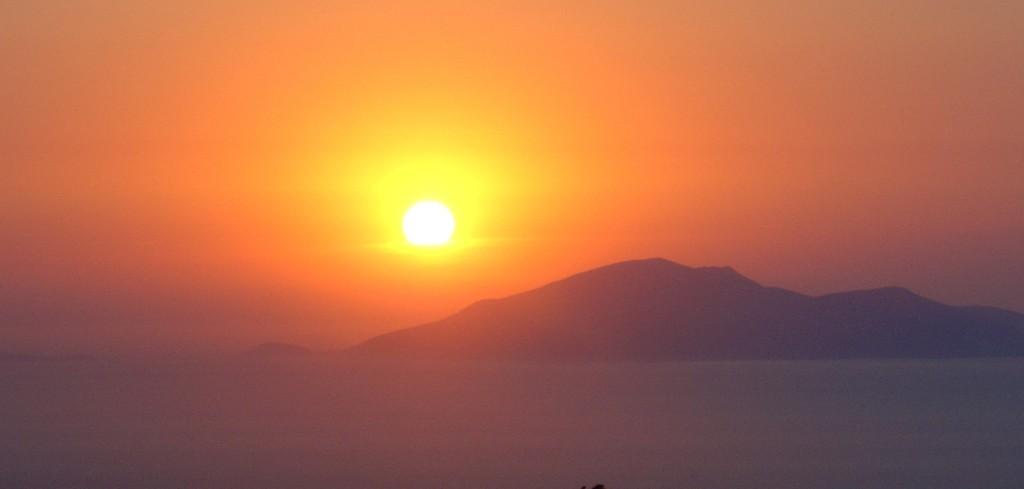 Sunset at Tigaki beach, Kos island, Greece
