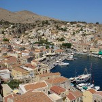 Symi habor and town, Dodecanese, Greece