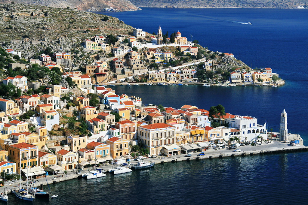 Symi habor - Photo by S. Lambadaridis